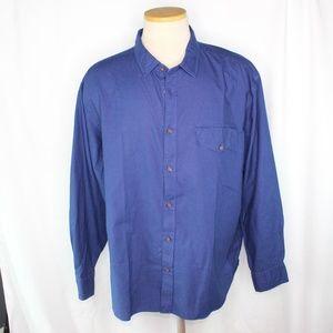 UNtuckit Solid Blue Dress Shirt 3XL